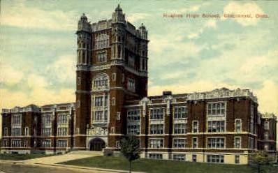 Hughes High School - Cincinnati, Ohio OH Postcard