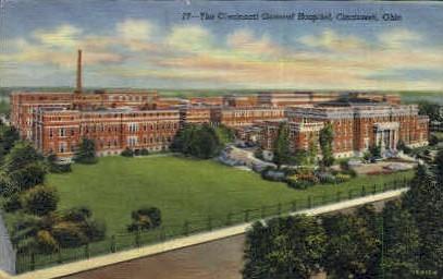 The Cincinnati General Hospital - Ohio OH Postcard