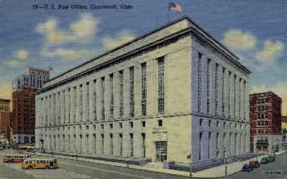 U. S. Post Office - Cincinnati, Ohio OH Postcard