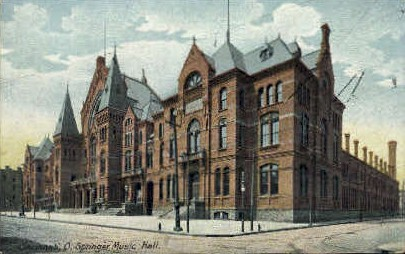 Springer Music Hall - Cincinnati, Ohio OH Postcard