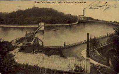 Eden Park Reservoir - Cincinnati, Ohio OH Postcard