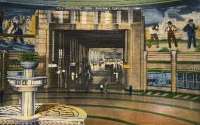 Concourse, Union Terminal - Cincinnati, Ohio OH Postcard