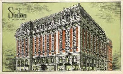 Hotel Sinton - Cincinnati, Ohio OH Postcard
