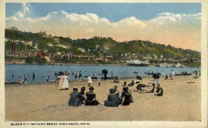 Queen City Bathing House - Cincinnati, Ohio OH Postcard