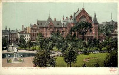 Music Hall from Washington Park - Cincinnati, Ohio OH Postcard