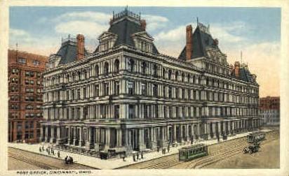 Post Office - Cincinnati, Ohio OH Postcard