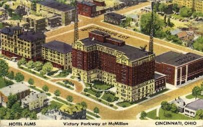 Hotel Alms - Cincinnati, Ohio OH Postcard