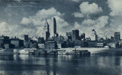Skyline - Cincinnati, Ohio OH Postcard
