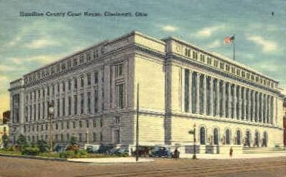 Hamilton County Court House - Cincinnati, Ohio OH Postcard