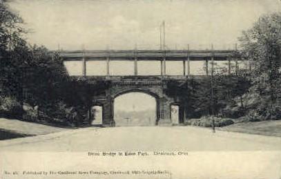 Stone Bridge in Edan Park - Cincinnati, Ohio OH Postcard