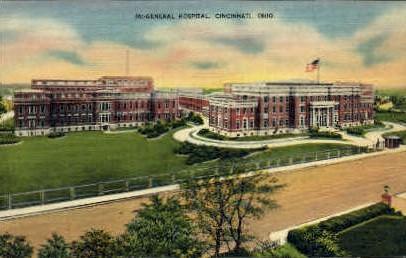 General Hospital - Cincinnati, Ohio OH Postcard