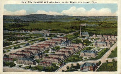 New City Hospital and Altenheim - Cincinnati, Ohio OH Postcard