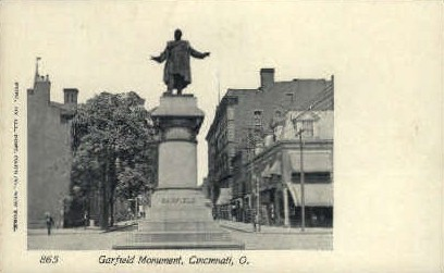 Garfield Monument - Cincinnati, Ohio OH Postcard