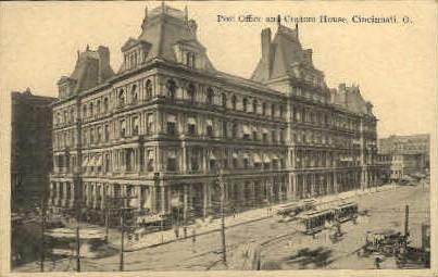 Post Office and Custom House - Cincinnati, Ohio OH Postcard