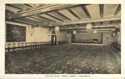 Italian Room, Hotel Gibson - Cincinnati, Ohio OH Postcard