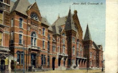 Music Hall - Cincinnati, Ohio OH Postcard