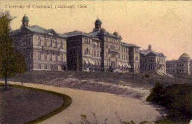 University of Cincinnati - Ohio OH Postcard