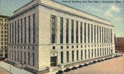 Federal Building and Post Office - Cincinnati, Ohio OH Postcard