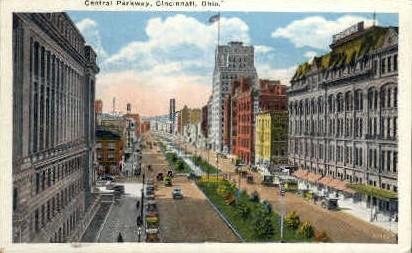 Central Parkway - Cincinnati, Ohio OH Postcard