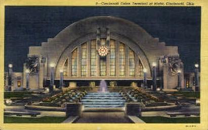 Union Terminal - Cincinnati, Ohio OH Postcard