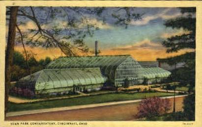 Eden Park Conservatory - Cincinnati, Ohio OH Postcard