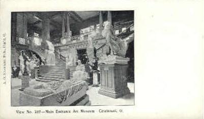 Art Museum - Cincinnati, Ohio OH Postcard