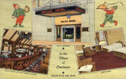 Palace Hotel - Cincinnati, Ohio OH Postcard