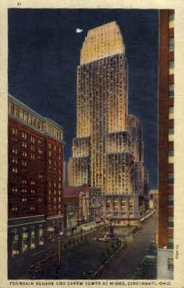 Carew Tower and Fountain Square - Cincinnati, Ohio OH Postcard