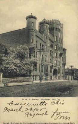 O. N. G. Armory - Cincinnati, Ohio OH Postcard