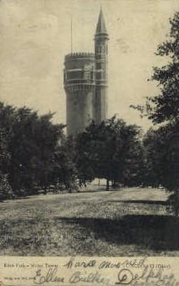 Eden Park Water Tower - Cincinnati, Ohio OH Postcard
