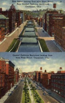 Central Parkway Boulevard - Cincinnati, Ohio OH Postcard