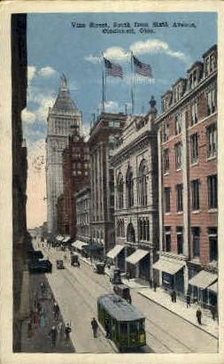 Vine Street - Cincinnati, Ohio OH Postcard