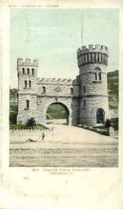 Elsinore Tower, Eden Park - Cincinnati, Ohio OH Postcard