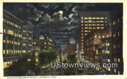 Fountain Square, Tyler Davidson Fountain - Cincinnati, Ohio OH Postcard