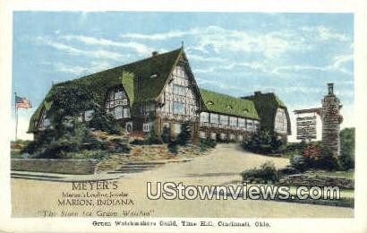 Gruen Watchmakers Guild, Time Hill - Cincinnati, Ohio OH Postcard