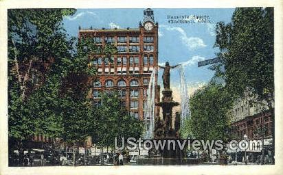 Fountain Square - Cincinnati, Ohio OH Postcard