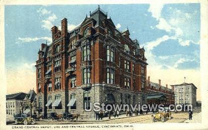 Grand Central Depot - Cincinnati, Ohio OH Postcard