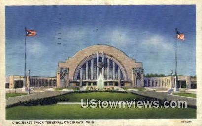 Cincinnati Union Terminal - Ohio OH Postcard