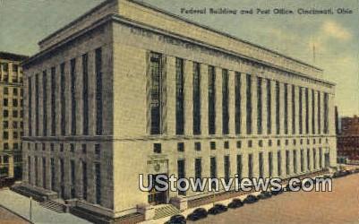 Federal Bldg & Post Office - Cincinnati, Ohio OH Postcard