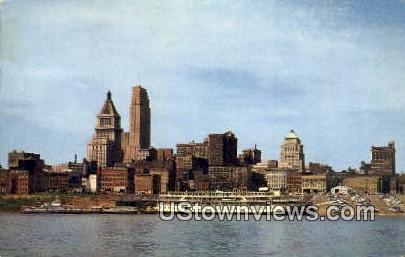 Ohio River - Cincinnati Postcard
