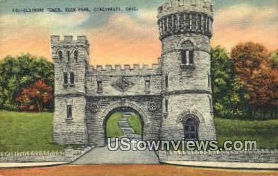 Elsinore Tower, Eden Park - Cincinnati, Ohio OH Postcard
