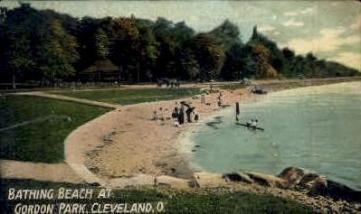 Bathing Beach at Gordon Park - Cleveland, Ohio OH Postcard