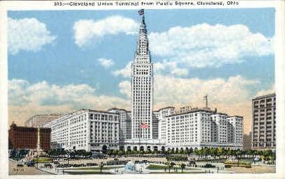 Union Terminal - Cleveland, Ohio OH Postcard