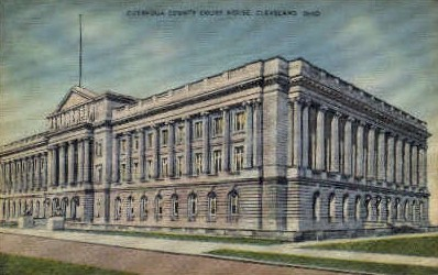 Cuyahoga County Court House - Cleveland, Ohio OH Postcard