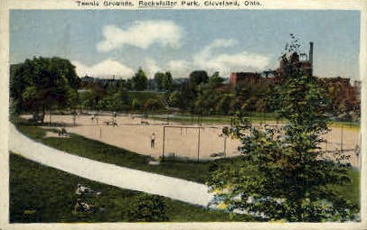 Tennis Grounds, Rockefeller Park - Cleveland, Ohio OH Postcard