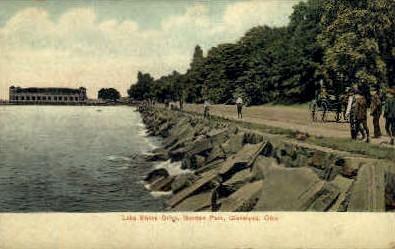 Lake Shore Drive, Gordon Park - Cleveland, Ohio OH Postcard