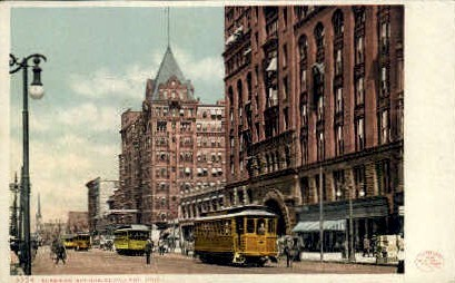 Superior Avenue - Cleveland, Ohio OH Postcard