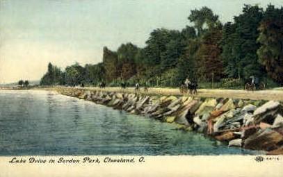 Lake Drive in Gordon Park - Cleveland, Ohio OH Postcard