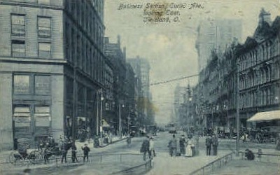 Business Section, Euclid Ave. - Cleveland, Ohio OH Postcard