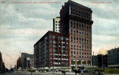 Cuyahoga Building and Williamson Building - Cleveland, Ohio OH Postcard